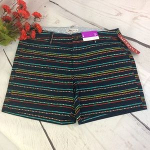 Merona Dark Blue Pattern Shorts Size 4