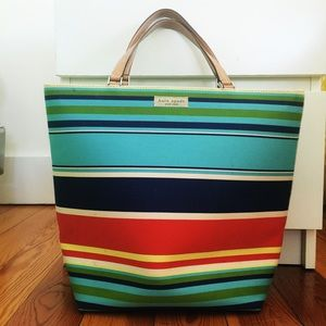 kate spade Handbags - Kate Spade striped handbag - perfect for summer!