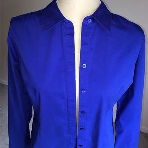 Tops - Excellent Vibrantly Blue Button-Down Blouse