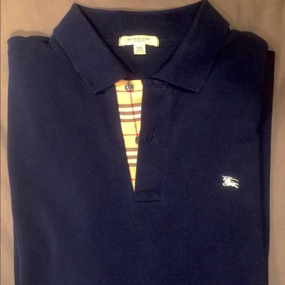 Burberry Shirts   Authentic Mens Navy Blue Polo Shirt Xxl   Poshmark 9f6b84ede36