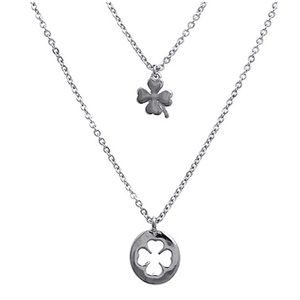 Dina Aziza Jewelry - Lucky Clover Cross Necklace