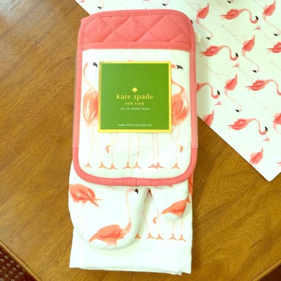 Kate Spade Accessories Flamingo 3 Piece Towel Set Poshmark