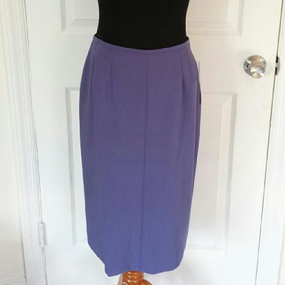 Vintage Dresses & Skirts - NWT Vintage Lavender Midi Pencil Skirt Sz 6