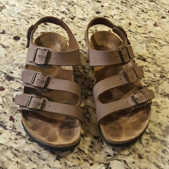 cd28cbe6dad Birkenstock Shoes - Brown Birkenstock Ellice triple strap sz.36
