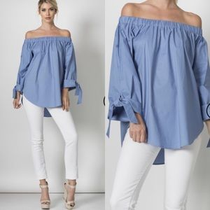 Tops - Long Sleeve Off the Shoulder Top