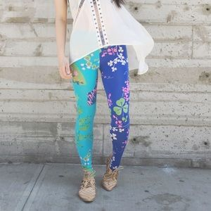 {versace x h&m} printed leggings