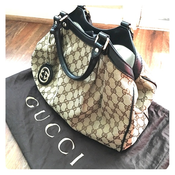 9480828ec035 Gucci Bags   Preloved Authentic Sukey Med Tote In Orig Gg   Poshmark