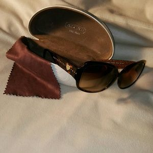 ❤ SOLD Coach Tortoise Frame Sunglasses