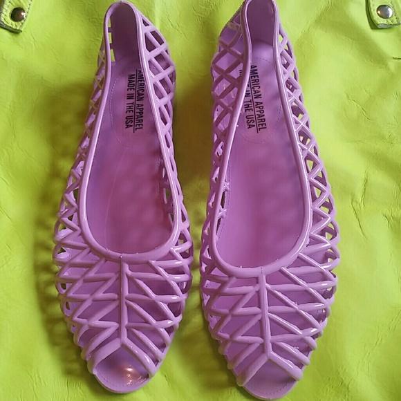 549f664956 American Apparel Shoes | Lattice Jelly Sandal New Lilac | Poshmark