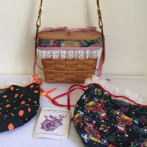 Longaberger basket purse & changeable liners