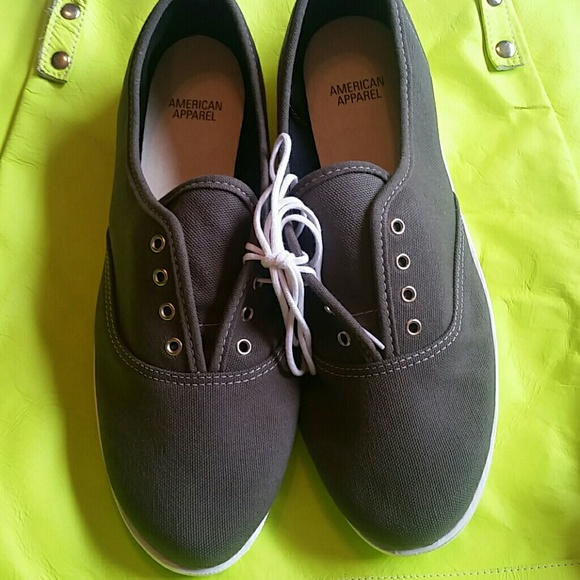 american apparel american apparel canvas tennis shoe new