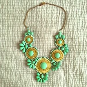 Light green statement necklace!