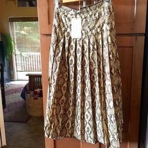 Zara Skirts - Zara Python snakeskin pleated skirt