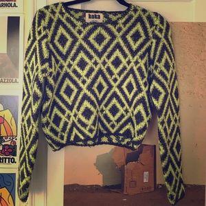 Crop too neon yellow sweater