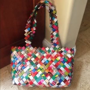 Handbags - Authentic Mexican Candy Wrapper Tote Bag