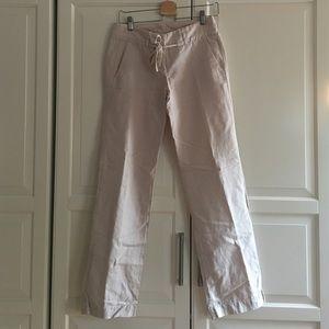 Jcrew linen blend wide leg trousers