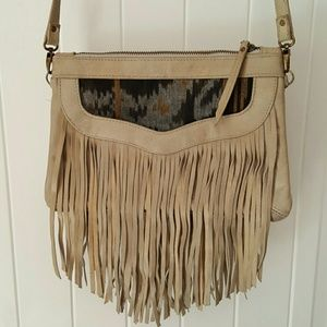 Cleobella Handbags - Cleobella fringe messenger bag purse