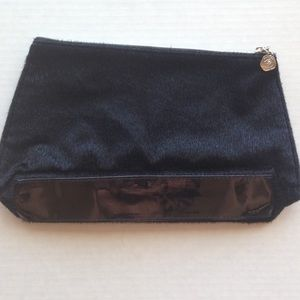 Lancome Handbags - 🆕Lancôme Black Fur Furry Makeup Bag Case Luxury⚜