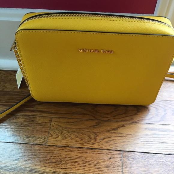 7cbf32a83e Michael Kors Bags | Yellow Crossbody Bag | Poshmark