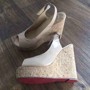 Shoes - Wide 37 patent wedges with adjustable back strap