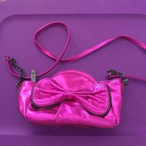 Metallic Pink Betsey Johnson Bag