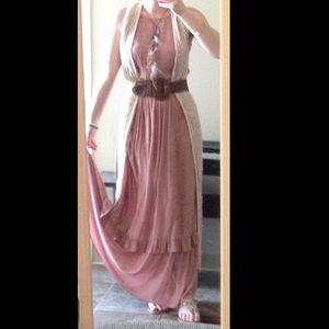 SALE❗️Boho Chic Chiffon Prairie Maxi Dress