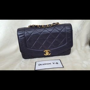 Auth Chanel Classic Single Flap Vintage