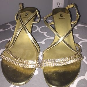 [free with purchase] Gold Strapy Rhinestone Heel