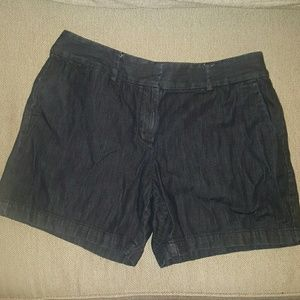 Loft dark denim shorts