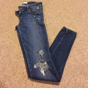 Abercrombie and Fitch distressed skinny jeans