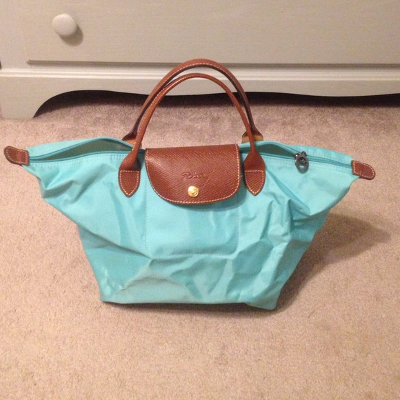 3290579ed7 Longchamp Handbags - Mint green Medium Le Pliage longchamp tote