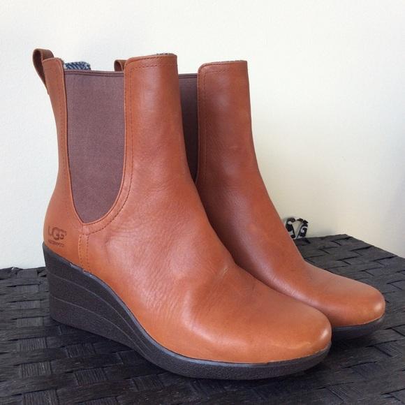 ugg style boots with wedge heel