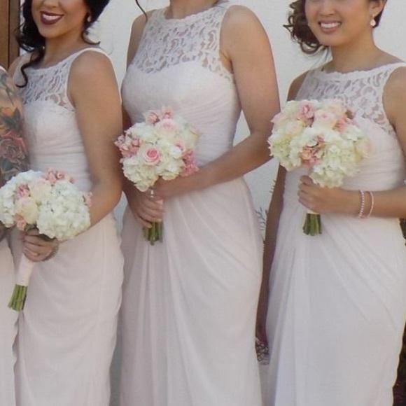 David\'s Bridal Dresses | Blush Colored David Bridals Bridesmaid ...