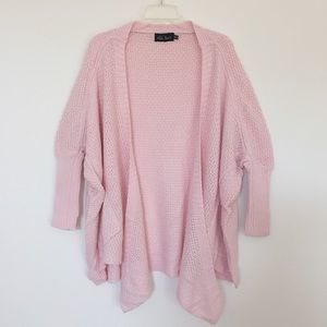 Light cotton candy pink knit cardigan