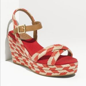 Tory Burch Camelia Wedge, sz 8