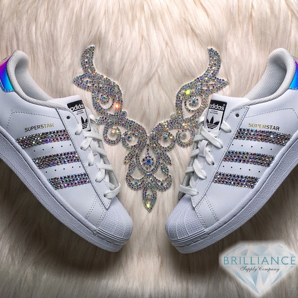 c5a357a35222 Adidas Superstar Hologram Shoes - AB Swarovski