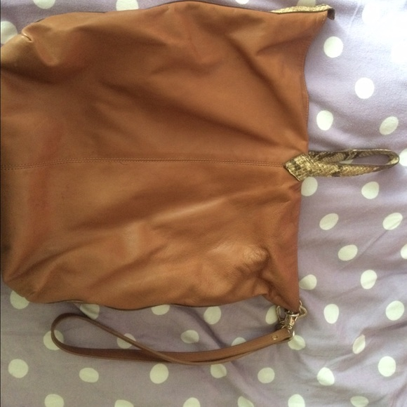 Zara genuine leather and faux snakeskin zara bag from for What is faux leather to real leather