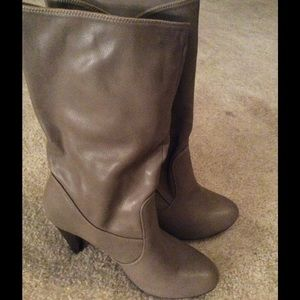 Shoes - Short Calf Boots In Taupe
