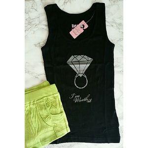 Diamond Sleep Lounge Set Tank & Shorts