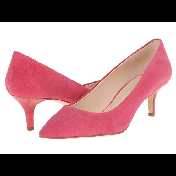 68% off Forever 21 Shoes - Pink Suede Kitten Heels from Sarah&39s