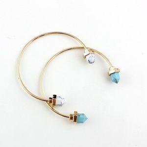 Jewelry - Gold Marble Cuff Bracelet