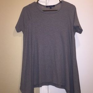 One One Three Tops - Grey loose fitted shirt