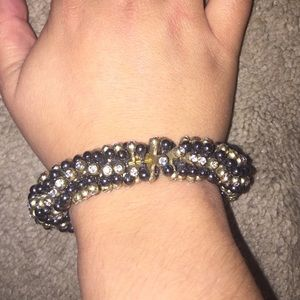 Mixed Metal stretchy bracelet