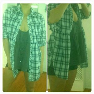 Free People Tops - Free people baby doll button up plaid flannel