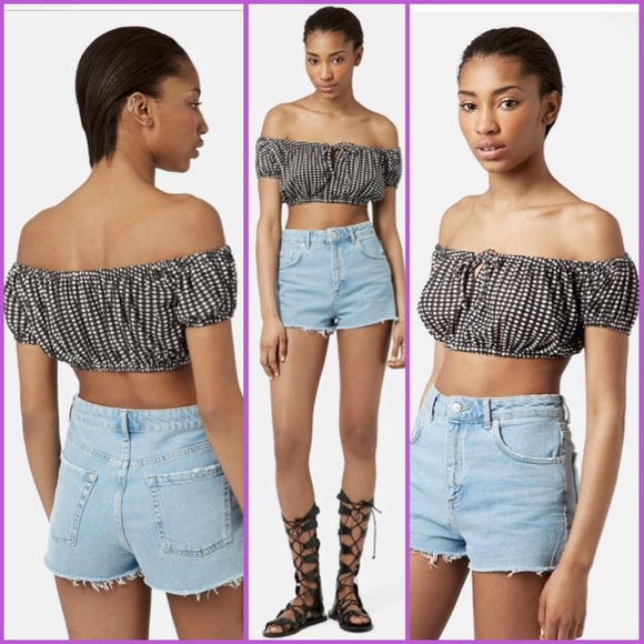 7bbbdbfdf64 NWT Gingham Off the Shoulder Bralette
