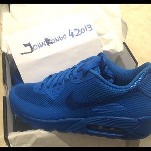 Nike Air Max 90 HYP Blue BRAND NEW Hyperfuse Boutique