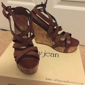 Cathy Jean strappy wedges