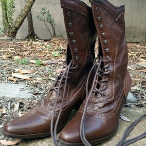Shoes - Victorian style leather boots