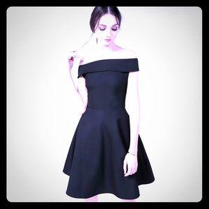 Sexy off shoulder black dress