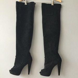 7 for all Mankind Shoes - 7 for all Mankind over the knee suede boots sz 6.5